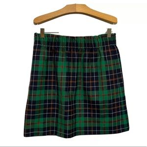 J Crew Dublin Plaid Tartan Wool Sidewalk Skirt